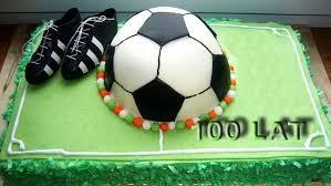 tort z piłką i  buty